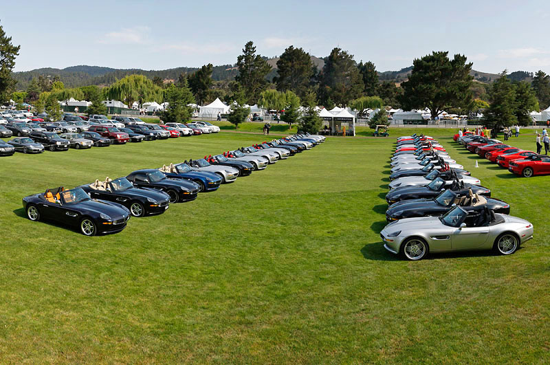 Monterey 08, day 3. The picture of the week - the largest group of Z8's ever seen this side of the Atlantic in our own special parking lot at the Quail. Monterey, Aug 08 (photo: Macfly)
